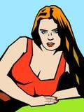 Dziewczyna w czerwonej Koszulce Obraz Stock