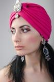 Dziewczyna w czerwonym kapeluszu Zdjęcie Royalty Free
