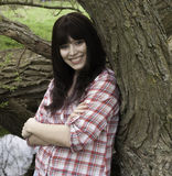 Dziewczyna w drewnach Zdjęcie Stock