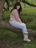 Dziewczyna w drewnie Zdjęcie Royalty Free