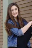 dziewczyna w drzwi Fotografia Stock