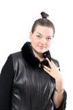 Dziewczyna w futerku Zdjęcia Stock