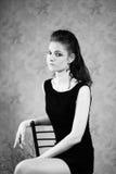 Dziewczyna w gothic wizerunku Fotografia Stock