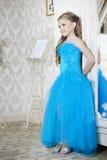Dziewczyna w grzywna sukni Zdjęcie Stock