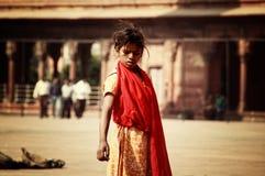 Dziewczyna w Jama Masjid w Delhi obrazy royalty free