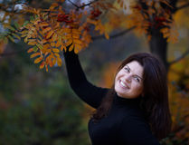 Dziewczyna w jesieni Obraz Stock