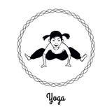 Dziewczyna w joga pozie 6 Obrazy Royalty Free