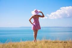 Dziewczyna w kapeluszu Obraz Royalty Free