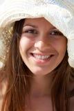Dziewczyna w kapeluszu zdjęcia royalty free