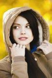 Dziewczyna w kapiszonie Obraz Royalty Free