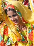 dziewczyna w kolorowym etnicznym ubiorze Obrazy Stock