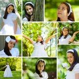 Dziewczyna w Komunia jej Pierwszy Dzień Obraz Royalty Free