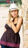 Dziewczyna w kowbojskim kapeluszu obrazy stock
