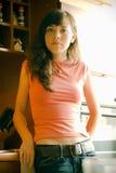 Dziewczyna w kuchni Zdjęcia Stock