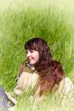 Dziewczyna w kurtka palacza starym stylu Fotografia Stock