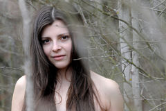 Dziewczyna w lesie Obraz Royalty Free