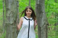 Dziewczyna w lesie Obraz Stock