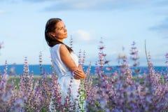 Dziewczyna w mędrzec Fotografia Stock