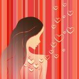 Dziewczyna w miłości Obrazy Royalty Free