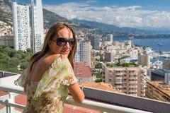 Dziewczyna w Monte, Carlo - Obraz Stock