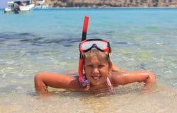 Dziewczyna w morzu fotografia royalty free
