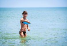 Dziewczyna w morzu Zdjęcie Royalty Free