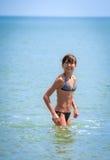 Dziewczyna w morzu Fotografia Stock
