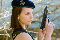 Dziewczyna w mundurze Obraz Royalty Free
