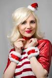 Dziewczyna w nowego roku kostiumu ono uśmiecha się Fotografia Stock