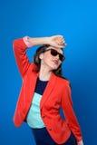 Dziewczyna w okularach przeciwsłonecznych Obrazy Royalty Free