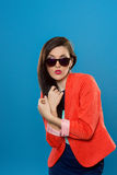 Dziewczyna w okularach przeciwsłonecznych Fotografia Stock