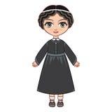 Dziewczyna w Ortodoksalnej żyd sukni royalty ilustracja