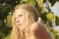 Dziewczyna włosy Obrazy Stock