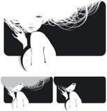 dziewczyna włosy Zdjęcia Stock