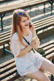 Dziewczyna w parku obraz stock