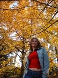Dziewczyna w parku Zdjęcia Royalty Free