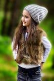 Dziewczyna w parku Obrazy Royalty Free