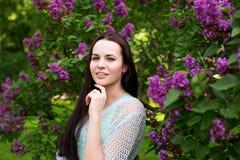 Dziewczyna w parku outdoors Obraz Royalty Free