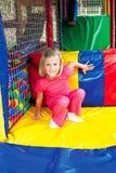 Dziewczyna w parku rozrywki Obrazy Royalty Free
