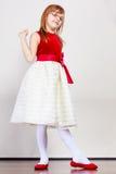 Dziewczyna w piękna princess sukni obraz royalty free