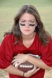 dziewczyna w piłce nożnej gracza Zdjęcia Royalty Free