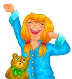 Dziewczyna w piżamach ilustracji