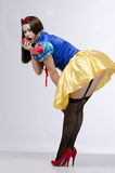 Dziewczyna w pończochach Fotografia Royalty Free