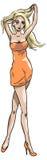 Dziewczyna w pomarańcze Zdjęcia Royalty Free