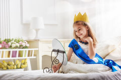 Dziewczyna w princess kostiumu Obraz Stock