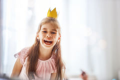 Dziewczyna w princess kostiumu Zdjęcia Royalty Free