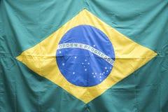Dziewczyna, w pucharu świata dopingu dla Brazylia zdjęcia stock