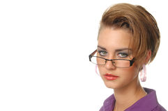 Dziewczyna w purpurowej koszula Zdjęcie Stock