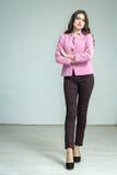 Dziewczyna w różowej kurtce Zdjęcia Stock