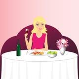 Dziewczyna w restauraci Zdjęcie Stock